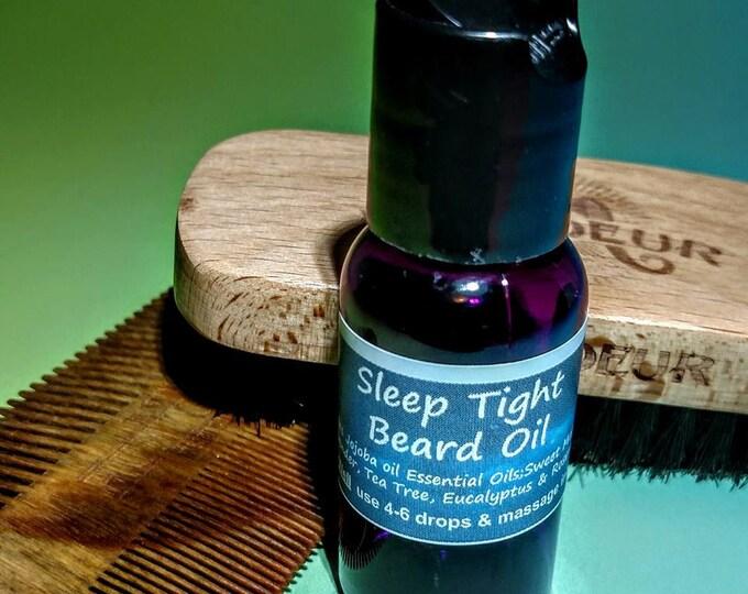 Sleep Beard Oil - Jojoba,Sweet Marjoram,Lavender,Tea Tree,Eucalyptus, Rosemary- Mens gift - Relaxation - Calm - Aromatherapy- essential oil