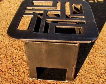 Wood Burning Camp Stove All Steel Construction
