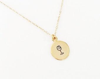 077944635ed9e Wine lover necklace   Etsy