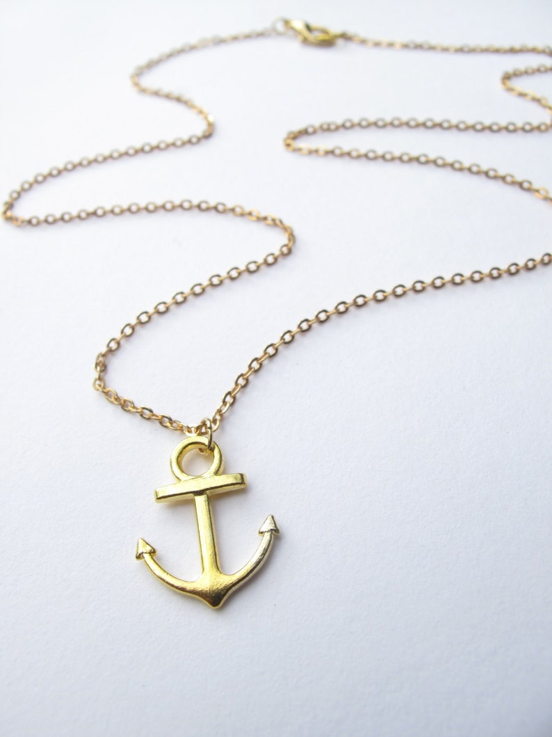 Anchor Necklace  Nautical necklace  Anchor Jewelry  Nautical Jewelry  Boyfriend Girlfriend  Boat Necklace  Seafarers Necklace