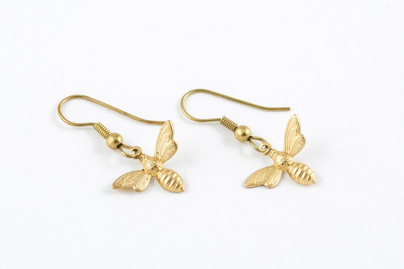 Bee Earrings  Bumble Bee Jewelry  Spring and Summer Jewelry  Simple Everyday Beauty
