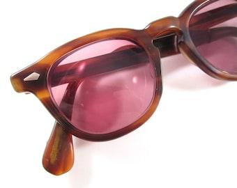 Tart Arnel Tortoiseshell eyeglasses horn rimmed glasses amber 1950s men's eyeglasses OTE Tart Optical Enterprises authentic 46-20