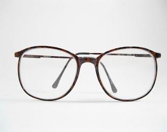 8870ac2b0f73 Marchon Japan eyeglass frames. P3 glasses vintage brown splatter pattern  oversized 80s 90s. 55-13-135