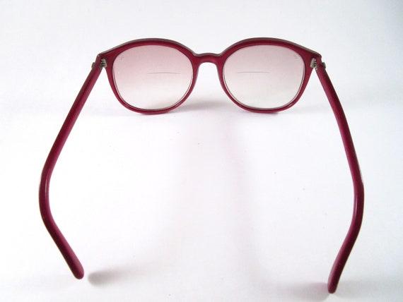 Oversized red eyeglasses 1970s vintage large roun… - image 6