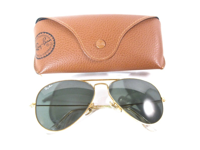 5f0443576c Ray-Ban vintage gold Aviator sunglasses. B L USA Bausch and