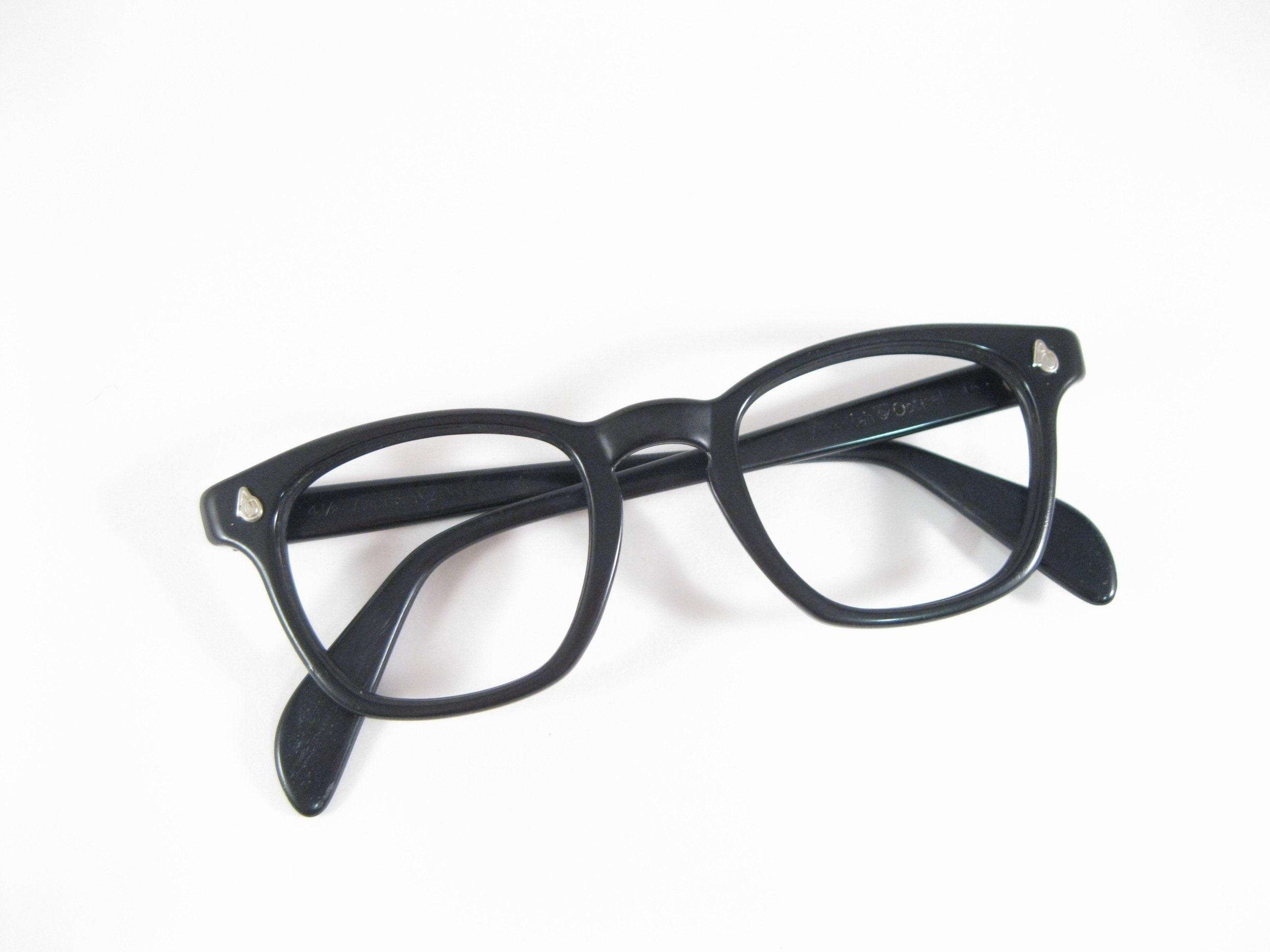 a2cccf551116 Ao flexi fit style black horn rimmed eyeglass frames rare etsy jpg  2592x1944 Black rimmed eyeglasses