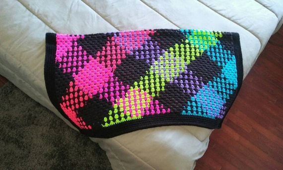 Argyle Blanket Colorful Throw Blanket Rainbow Blanket Plaid Etsy Extraordinary Colorful Throw Blankets