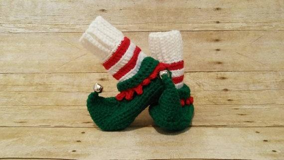 Christmas Slippers Elf Booties Babys | Etsy