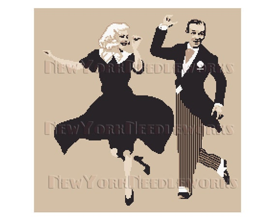 Astaire And Rogers Cross Stitch Fred Astaire Ginger Rogers Etsy