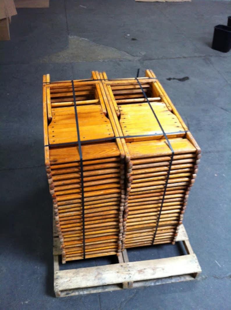 De Gratuite 100 Vintage Chaises Pliantes Lot Livraison Bois W92HEYDI