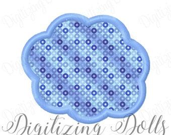 Cloud Applique Machine Embroidery Design 3x3 4x4 5x7 6x10 fluffy heaven INSTANT DOWNLOAD