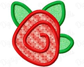 Rose Rosette Applique Embroidery Design 2x2 3x3 4x4 5x7 Flower Spring Summer INSTANT DOWNLOAD