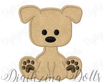Puppy Dog Applique Machine Embroidery Design 4x4 5x7 6x10 INSTANT DOWNLOAD
