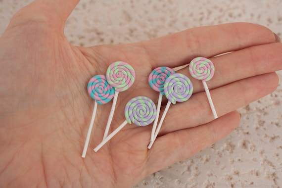 Dollhouse Miniature Handcrafted Colorful Lollipops ~ Perfect Sweet Treat