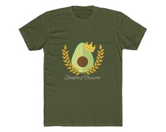 e82d7612c9e8 Avocado King Tee - Breakfast of Champions ( Men's Cotton Crew Tee in Green)