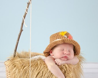 e7d63b6b6eb Gone Fishing Newborn Boy Photo Prop Hat and Crochet Fish Newborn Fishing Hat    Blue Fish Set Crochet Fishing Hat with Fish Baby Boy Hat