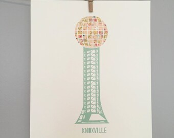 Sunsphere Art - Knoxville Tennessee - Floral - Spring Decor - 8 x 10 Art Print