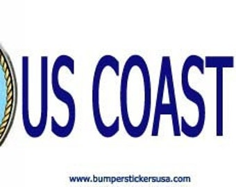 US  Coast Guard bumpersticker. magnetic bumpersticker, magnetic bumper sticker, magnets, bumperstickers