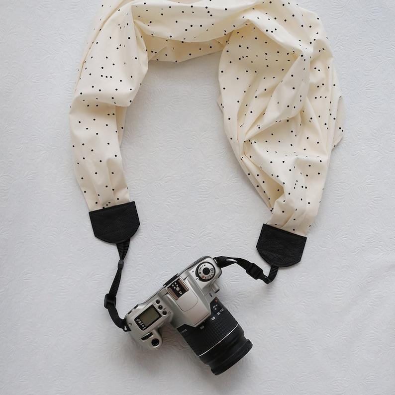 scarf camera strap classic polka dot confetti  BCSCS059 image 0