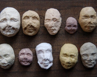 10 Sprouting Seed Faces - Plantable Paper with Edible Sprouts
