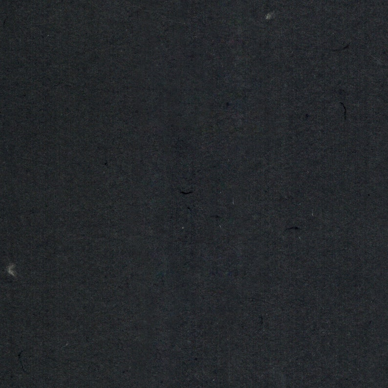 Vintage Black Cotton Handmade Paper 11x14 Fine Art Paper