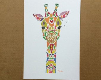 Watercolor/Ink-Animal-Giraffe #1