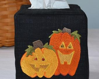 Halloween Jack O Lanterns Tissue Box Cover