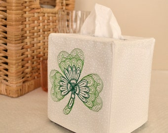 Ombre Shamrock Tissue Box Cover