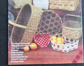 Humor Basket Magic Vintage Basketry Pattern Instruction Book 1977 Basketry & Chair Caning Guides