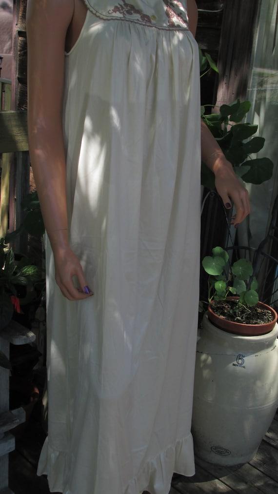 Vintage Slumber Suzy Dreamwear Nighty Floral Night Gown Nighty Sleepwear Adult Size Large