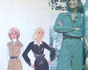 McCall's 4753Pattern Bust 31.5 paratrooper military palazzo pants jumpsuit trouser 1970s vintage American Hustle Studio 54 Disco