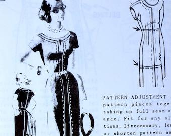 Vintage sewing Pattern Spadea 1317 Bust 34 1960s mail order Herbert Sondheim wiggle top stitch  secretary Dress Young Designer Mad Men