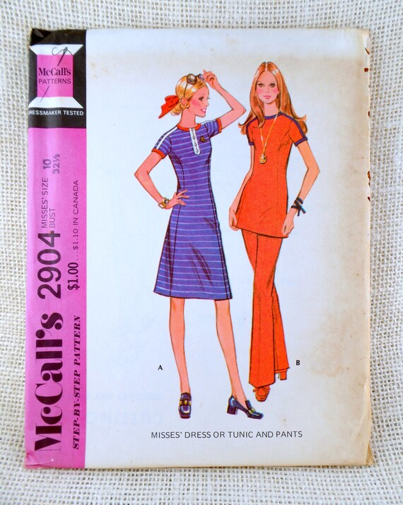 Vintage Sewing Pattern Mccalls 2904 Mini Dress Bell Etsy