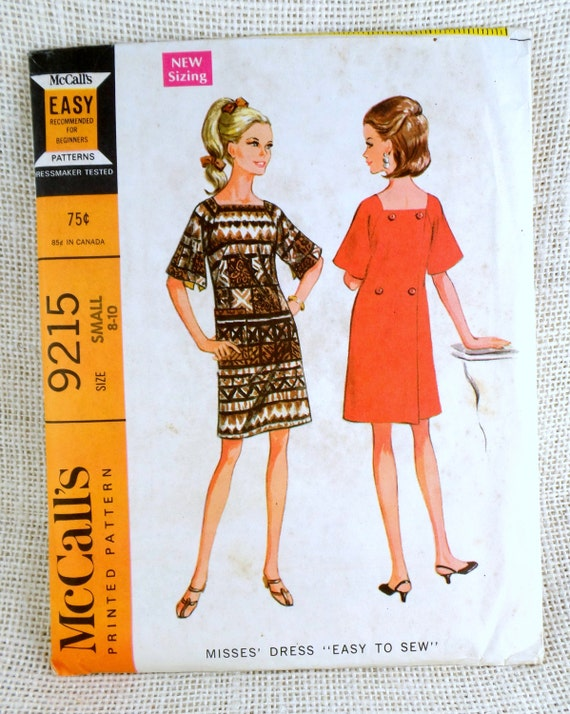 Vintage Pattern McCall's 40 40s Bell Sleeve Square Etsy Impressive Bell Sleeve Dress Pattern