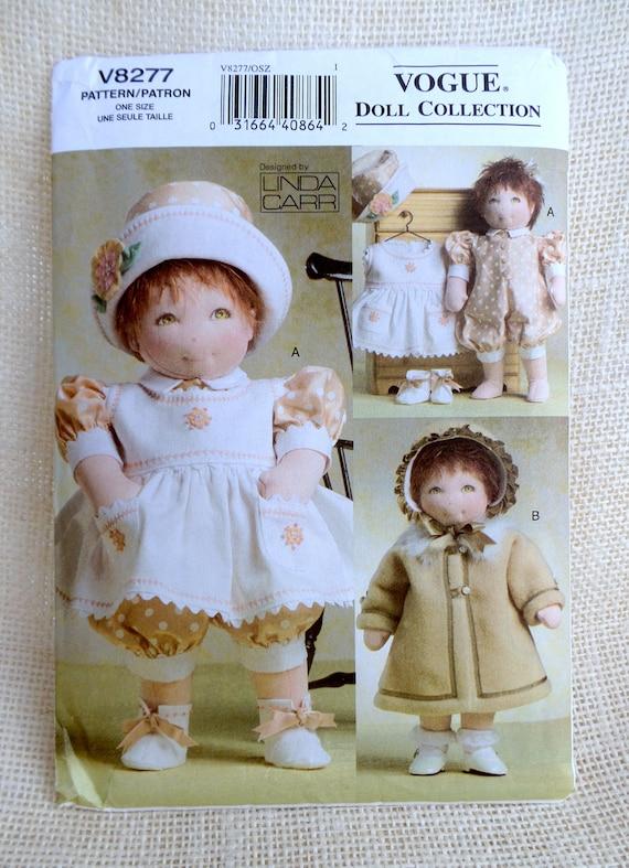 Mode V8277 Puppe Muster nähen Linda Carr Puppe Trägerkleid | Etsy