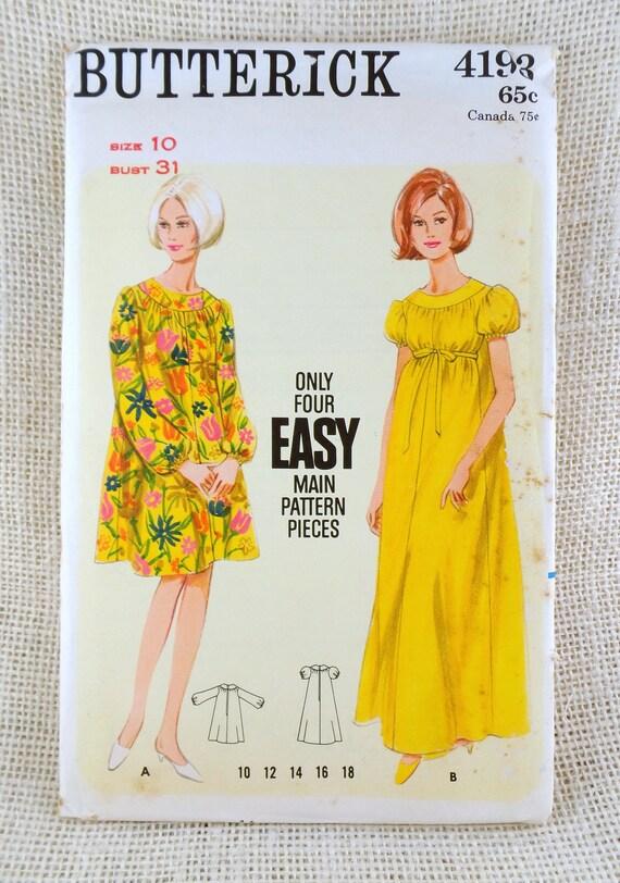 Butterick 4193 Vintage sewing pattern dress muu muu caftan | Etsy