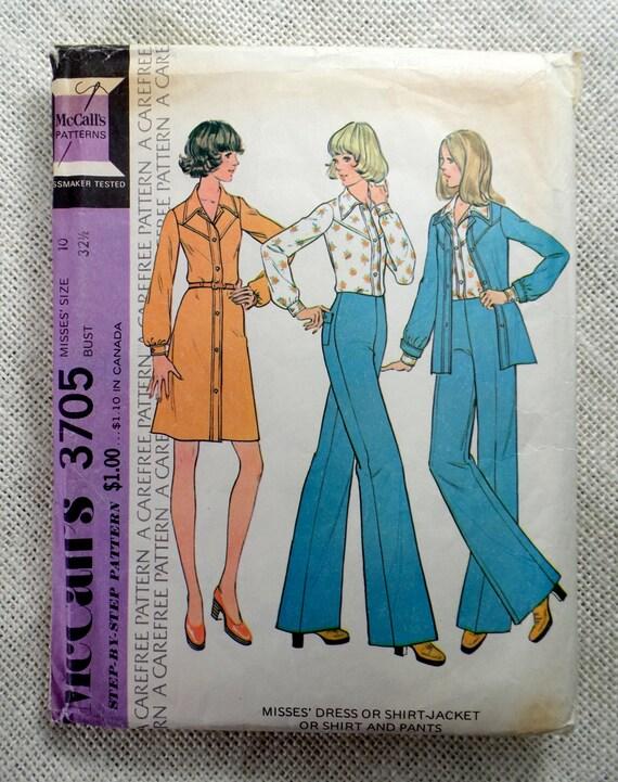 Vintage Sewing Pattern Mccalls 3705 Western Shirt Pants Etsy