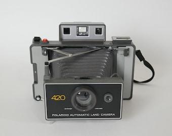 Polaroid 420 Automatic Packfilm Land Camera + Case
