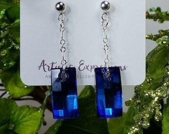 Swarovski Crystal Bermuda Blue Urban Earrings