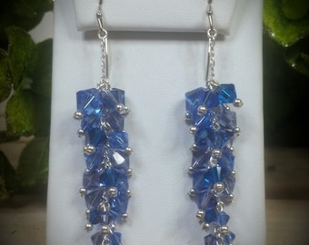 Swarovski Crystal & Pearl Glacier Vine Earrings