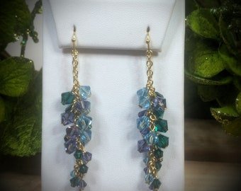 Swarovski Crystal & Pearl Pacifica Vine Earrings