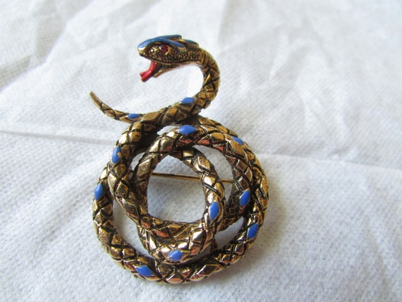 ART Snake Brooch