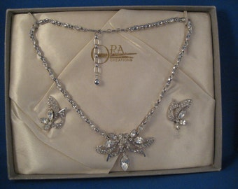 ORA Demi Parrure Rhinestone Necklace Set