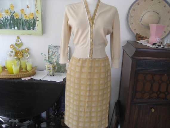 Nardis of Dallas Vintage Wool Skirt and Sweater Se