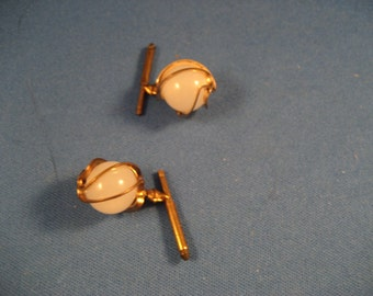 Real Gold and Crystal Cuff Links