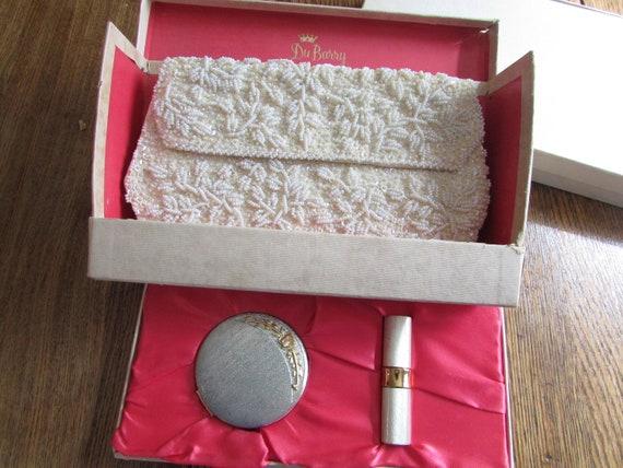 DuBarry Beaded Purse, Compact, and Lipstick Set