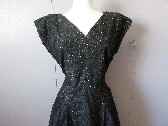 Hand Made Taffeta Eyelet Dress