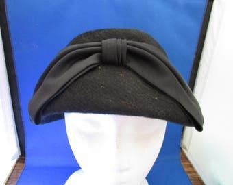 Black Wool Betmar Hat