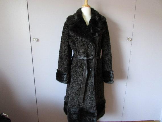 Betty Rose Fake Fur Calf Length Coat