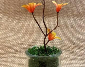 DIY Zen Tabletop Flower Vase Jar Sand Rocks Moss Craft Kits